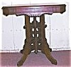 American Victorian Walnut & Burl Table