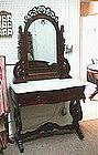 Mahogany Marble Top Dressing Table