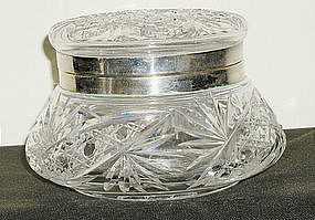 Brilliant Cut Glass hinged box