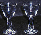 Steuben Glasses with Tear Drop Stem