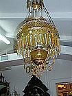 Victorian Amber Light Fixture