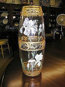 Heavily Enameled Moser Mt. Joye Vase
