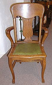 Set of Eight Oak Dining Room Chairs
