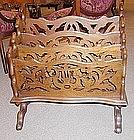 American Victorian Walnut Canterbury