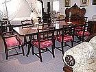 American Mahogany Banded Dining Room Table
