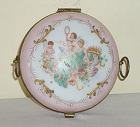 Hinged Box w/Cherubs & Woman