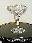 Brilliant Period Cut Glass Compote