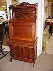 American Victorian Walnut Slant Front Desk