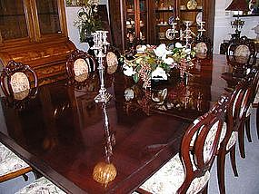 HUGE American Victorian Mahogany Dining Table