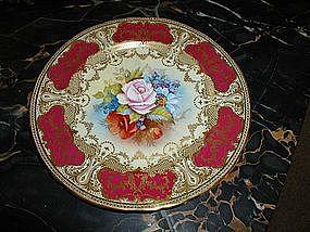 Set of Twelve Aynsley Handpainted Serving Plates