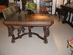 Carved Horner Mahogany Dining Table