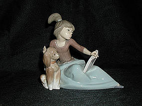 Lladro #5475 A Lesson Shared
