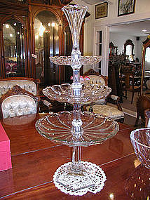 Rare Heisey Compote with Epergne Top