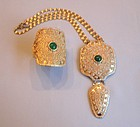 NAPIER ORNATE PENDANT NECKLACE AND BRACELET
