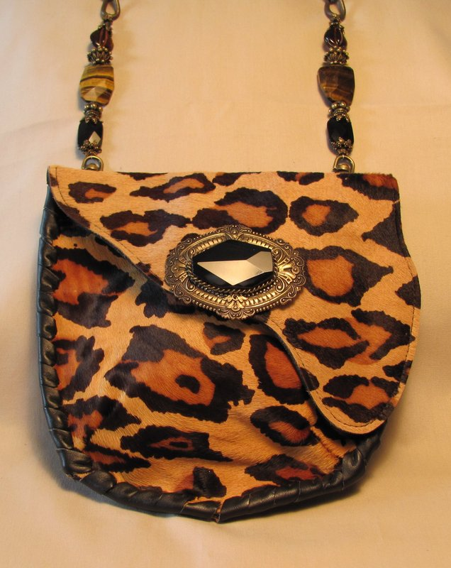 LEOPARD PRINT LEATHER PURSE BY MAYA