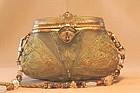 ORNATE GOLD RESIN PURSE BY MAYA