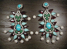 KENNETH J LANE DANGLE EARRINGS