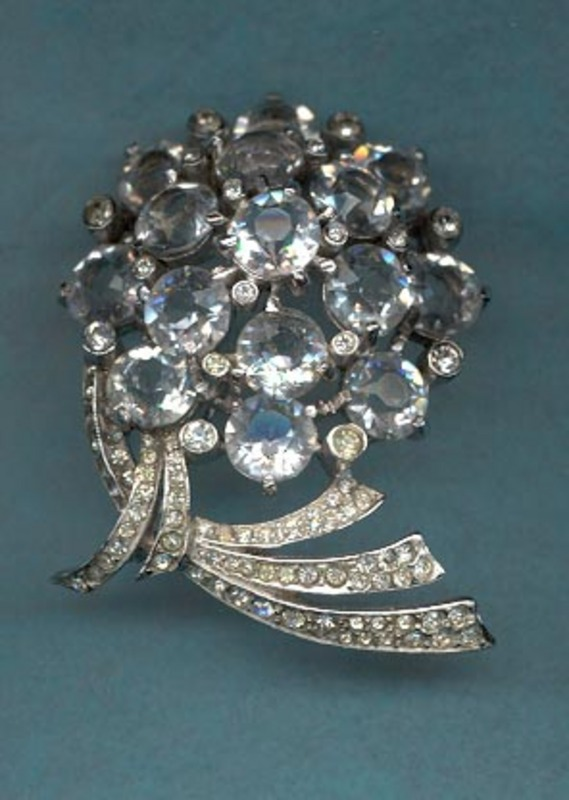 Reja Rhinestone and Crystal Brooch