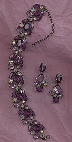 Unsigned Choker and Earring Set