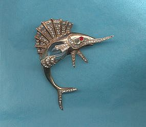Sterling Jelly Belly Brooch