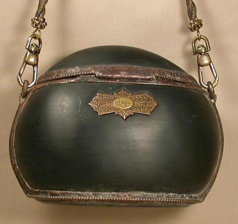 MAYA BLACK RESIN AND COPPER PURSE