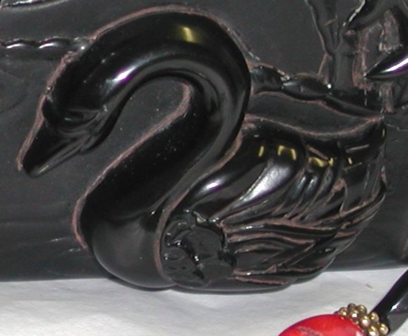 MAYA BLACK SWAN PURSE