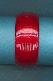RED BAKELITE BANGLE