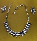 HATTIE CARNEGIE CHOKER AND EARRINGS