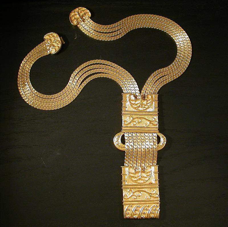 JUDITH LEIBER GOLD PLATED NECKLACE