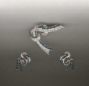 Boucher Brooch and Earrings