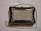METAL AND RHINESTONE PURSE