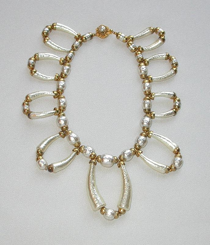 MIRIAM HASKELL COLLAR NECKLACE