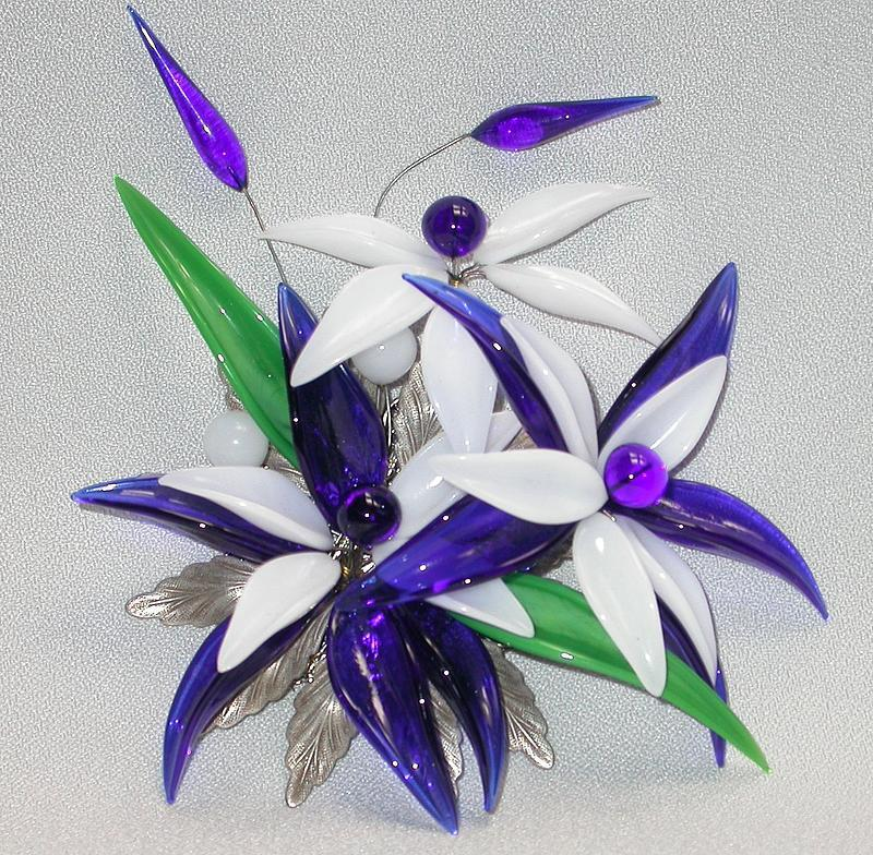 MIRIAM HASKELL FLORAL BROOCH