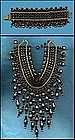 GLASS BEAD FRINGE NECKLACE AND BRACELET
