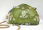 MAYA OLIVINE AND GOLD PURSE