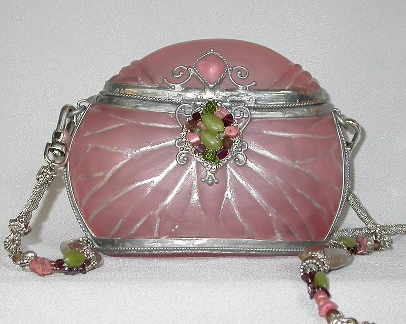 MAYA ROSE AND SILVER PURSE