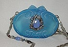 MAYA BLUE PURSE WITH SILVER