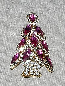 DOROTHY BAUER NAVETTE CHRISTMAS TREE PIN