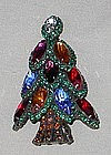 NAVETTE CHRISTMAS TREE BROOCH BY DOROTHY BAUER