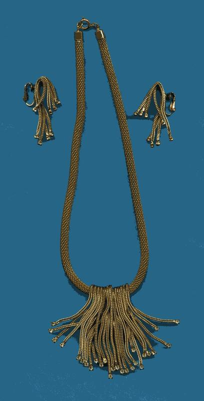 HATTIE CARNEGIE FRINGE NECKLACE AND EARRINGS