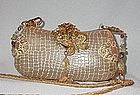 MAYA  PYTHON PURSE WITH BUTTERFLY