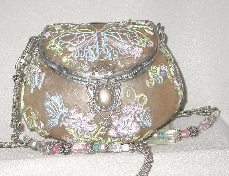 MAYA PURSE WITH MORNING GLORIES