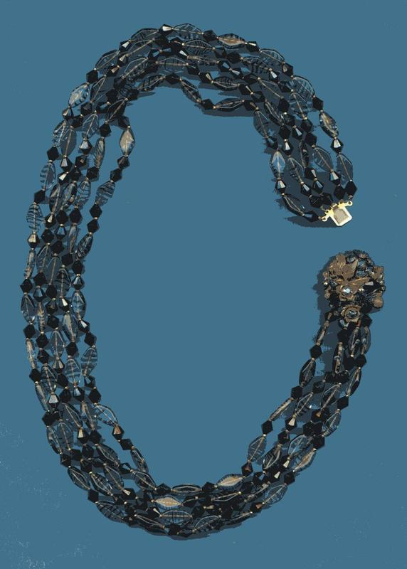 MIRIAM HASKELL GLASS NECKLACE