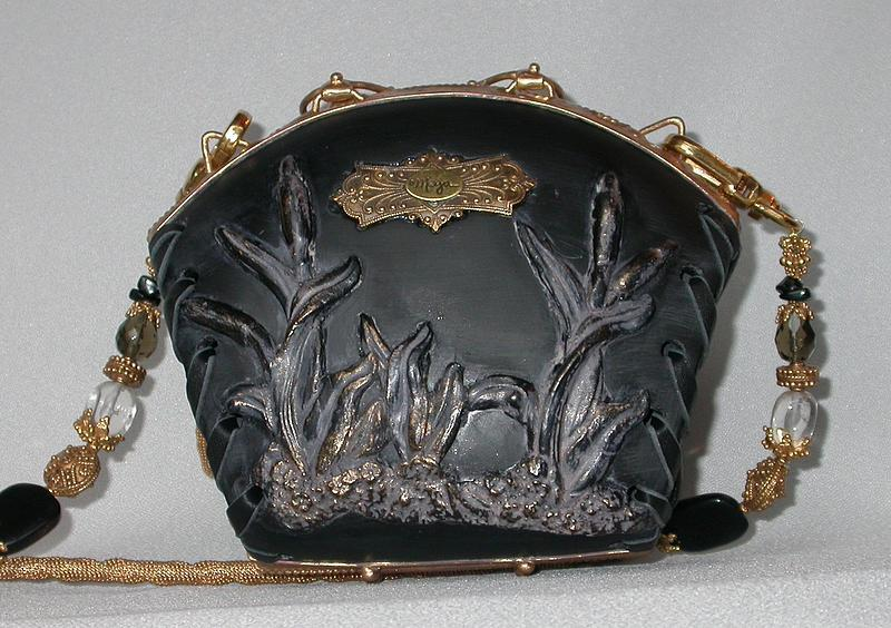 BLACK FROSTED PURSE BY  MAYA