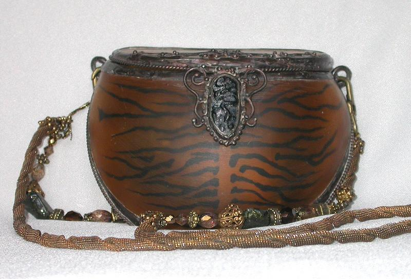 MAYA'S TIGER STRIPE PURSE