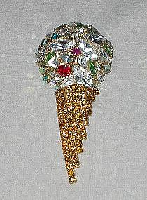 DOROTHY BAUER ICE CREAM CONE BROOCH