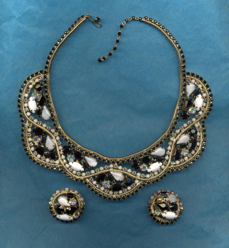 ALICE CAVINESS COLLAR NECKLACE AND EARRINGS