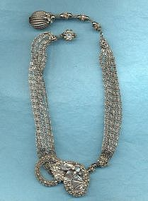 MIRIAM HASKELL LAVELIERE NECKLACE
