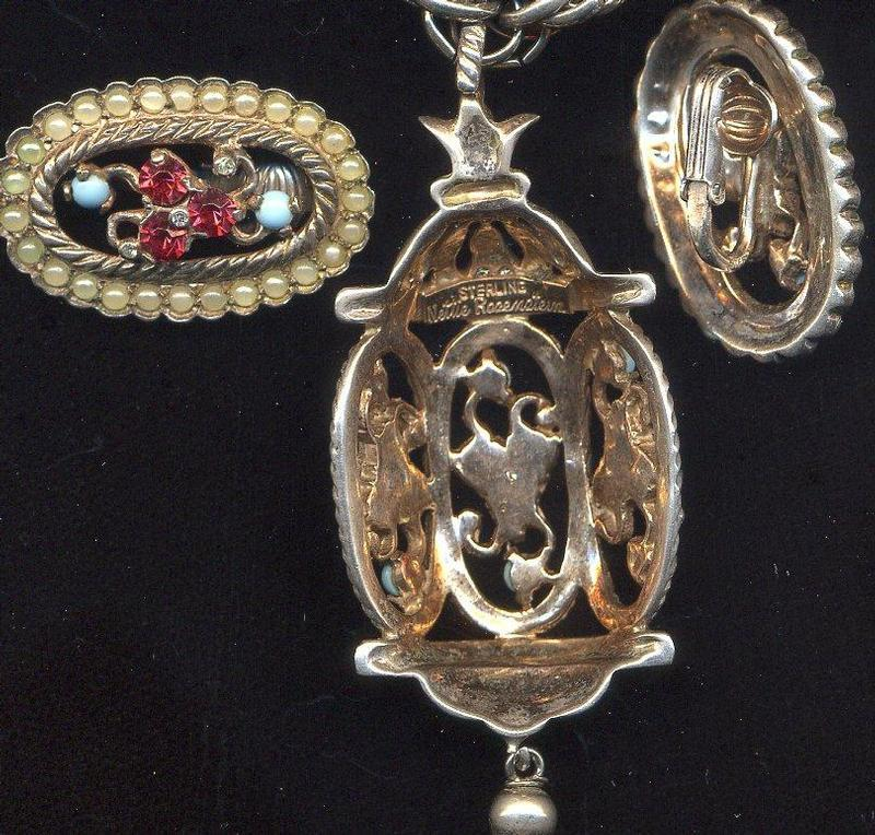 NETTIE ROSENSTEIN STERLING SET