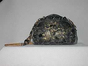 GOLD AND BLACK PURSE BY MAYA